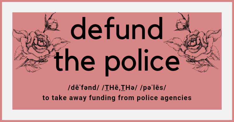 Link to the defund the police campaign
